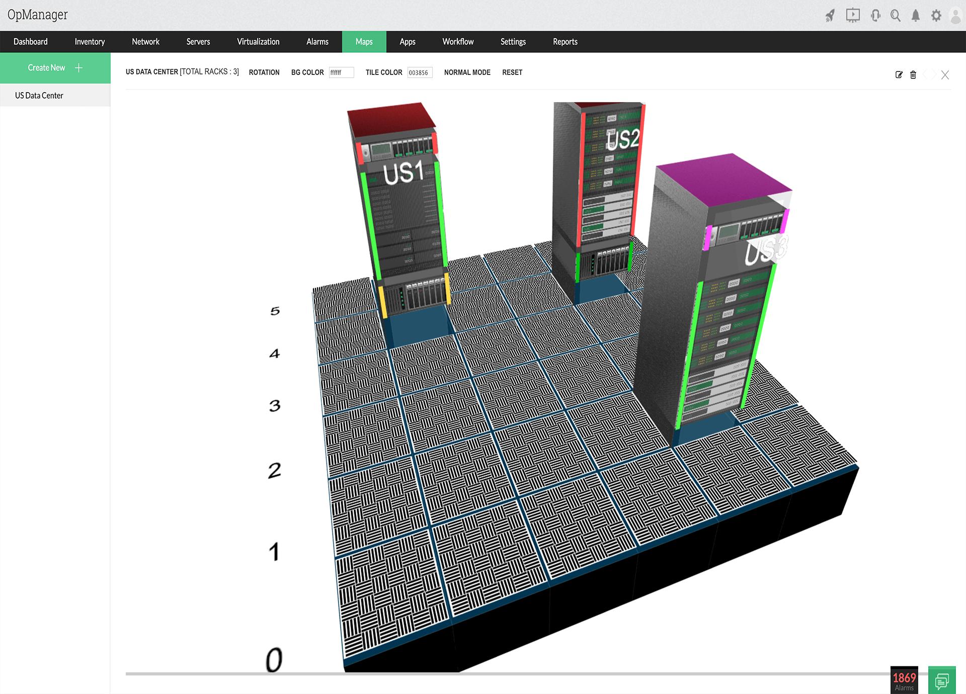 Tạo các rack với các thiết bị được lắp đặt và thiết kế các datacenter để mô phỏng datacenter thực. Phân tích sâu các bản giả lập thiết bị thực tế trong trường hợp bị lỗi.