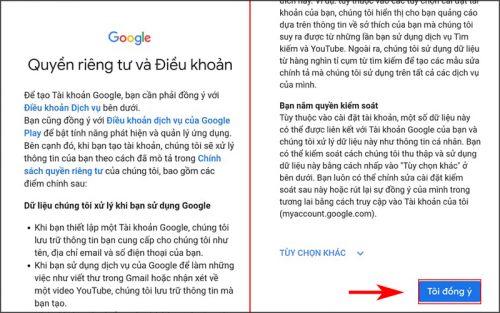 Hướng dẫn tạo tài khoản Gmail 4)